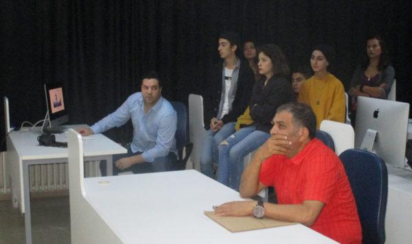 """От заниманията (уъркшоп), ръководени от преподаватели от Катедра """"Визуални изкуства"""" в Университет """"Онсекиз Март"""", Чанаккале, Турция"""