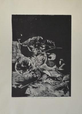 """Творби от студентската изложба """"От натура към абстракция"""""""