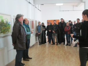 """Изложба на преподаватели, студенти и докторанти от катедра """"Визуални изкуства"""" на СУ в галерията на Интернационалния университет на град Нови Пазар, Сърбия"""