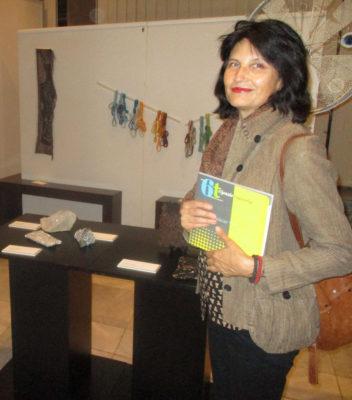 Проф. дн Лаура Димитрова на откриването на Международното триенале на текстилното изкуство в гр. Нови Сад, Сърбия