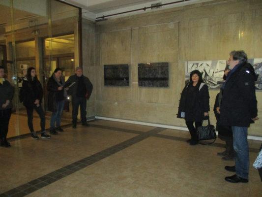 """От откриването нa изложбата """"Диалог: Бяло и черно"""" в галерия """"Алма Матер"""""""